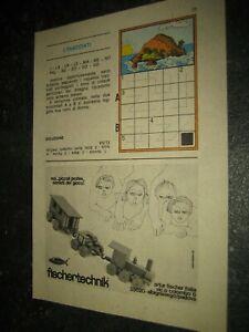 1974 -1#1 fischertechnik Werbung Katalog Prospekt catalogue catalogo pub ad