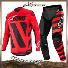 COMPLETO CROSS ENDURO ALPINESTARS RACER BRAAP 2019 BLACK RED WHITE 36 - XL