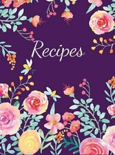 Recipes: Large Blank Recipe Journal to Write in Favorite Recipes (Hardcover)