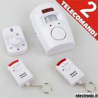 Alarma Sensor De Infrarrojo 2 Mandos a Distancia 105dB Safe Alarma