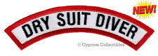 New listing DRY SUIT DIVER CHEVRON SCUBA DIVING iron-on DIVE CERTIFICATION PATCH embroidered
