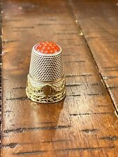 Antique Thimble Silver And Gold Around Band