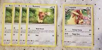 Pokémon TCG 4x Buneary #106/156 Lopunny #107/156 Colorless English Mint Uncommon