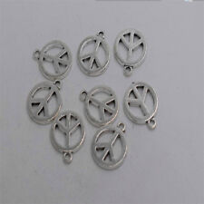 14pcs Antique silver plated peace sign charm pendant T0293