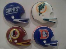 NFL Réfrigérateur Aimants-Set de 4, les géants / DAUPHINS / BRONCOS / REDSKINS, 1980's Gridiron