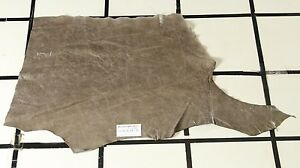 """""""Greyswood"""" Taupe Scrap Leather Hide w/Crackle Finish Approx. 4.75 sqft H40A17-7"""