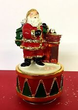 Musical Turning Father Christmas at Chimney Ornament  ~ Plays Music! LP28282