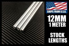 12mm x 1000mm Linear Shafts/Rods, Hard Chrome Meter Stock for CNC/3D Printers