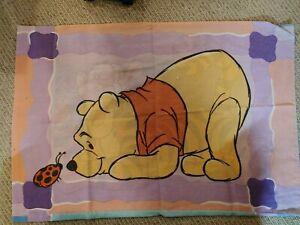 "Vintage Disney Winnie The Pooh & Tigger  Pillowcase 2 Sided Standard 30"" x 20"""
