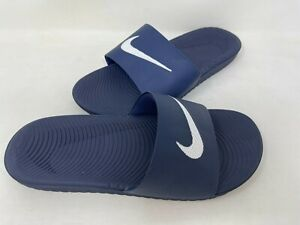 NEW! Nike Men's Kawa Slide Sandals Navy/White #832646-400 202M tz