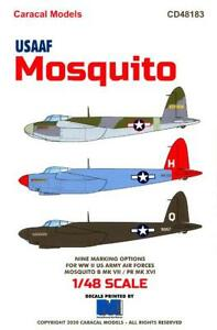 Caracal Decals 1/48 DE HAVILLAND MOSQUITO American USAAF Versions