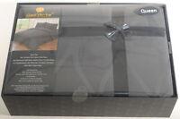 Queen 400TC Dark Gray Bedding Set Sheets 4PC Pima Cotton Dell'Arte Luxury H3B