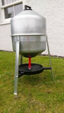 Galvanised Poultry Trap Drinker - 30 Litres