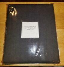 "NEW Restoration Hardware Stonewash Cotton Linen Drape Gray Noir 84"" x 100"""