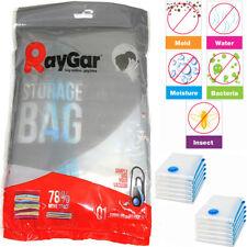 RayGar 12 Pack 50 x 90 Vacuum Compressed Storage Bags Saving Space Seal Vac Bag