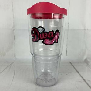Tervis Tumbler 24 oz Diva High Heel Insulated Cup W/ Pink Lid Clear