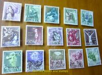 EBS Spain 1962 - 15 Mysteries of the Holy Rosary - Rosario 1355-1369 MNH**cv $26