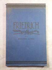 Friedrich der Große Eine Prüfung in drei Stücken u. Nachspiel Walter Lange 1926