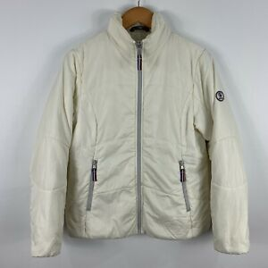Aigle Womens Puffer Jacket Size 10 White Zip Insulated Polyester 26.01