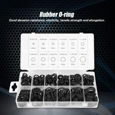 300Pcs 12 Sizes Black O-ring Assortment Seal Gasket Universal Rubber O Ring Kit