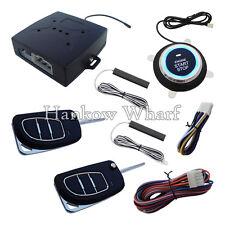 PKE Car Alarm System With Push Button Start & Remote Engine Start With Flip Key