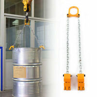Chain Drum Lifter Yellow 1 Ton Lift Barrel Lifter Vertical Hoist ALLOY STEEL LBS