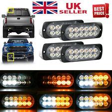 4X 12 LED Amber Strobe Light Car Emergency Flashing Recovery Beacon Lamp 12/24V