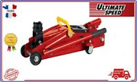 ULTIMATESPEED® Cric hydraulique à roulettes voiture auto camping car 2T