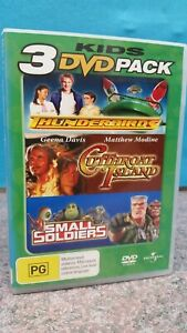 KIDS 3-DVD PACK THUNDERBIRDS CUTTHROAT ISLAND SMALL SOLDIERS PAL - FREE POST