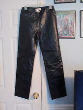 hugo buscati leather pants 4 black       #835