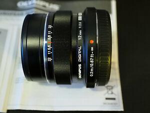 NEU: Olympus M.Zuiko Digital ED 12 mm f2 F/2.0 schwarz + 2 Jahre Garantie