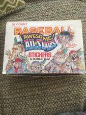 1988 DONRUSS Awesome All Stars.. BASEBALL STICKER Box Of 36 Packs