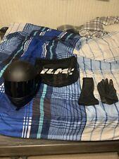 Motorcycle Dual Visor Flip up Modular Full Face Helmet DOT Approved Size L