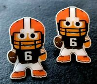 "Set of 2 NEW AMAZON SWAG EMPLOYEE ""FOOTBALL PLAYER"" PECCY PINS"
