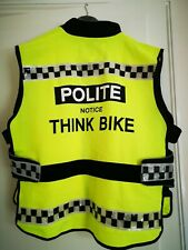 THINK BIKE YELLOW HI VIZ VIS CYCLE WAISTCOAT VEST.GREAT CONDITION
