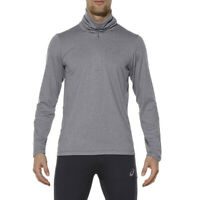 Asics Mens Grey Thermopolis Half Zip Running Stretchy Lightweight Top