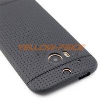 For HTC One M8 Phone Case Cover Slim Matte Black Hybrid Soft Shockproof Rubber