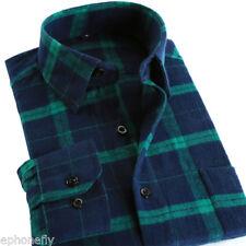 SALE Mens Long Sleeve Flannel Casual Formal Work Plaid Shirt Dress Shirt Tops