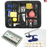 6- 369PCS Watch Repair Tool Kit Back Case Press Opener Spring Pin Remover Wrench