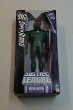 "Justice League 10"" Figure DC Super Heroes Green Lantern dark blue box Mattel"