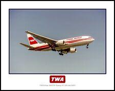 TWA Airlines 1980's Colors N650TW Boeing 767-205 11x14 Photo (P007RAEN11X14)