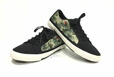 UGG I HEART LACE UP GLITTER CAMO SNEAKERS BLACK SUEDE WOMENS US 7 /YOUTH 5 -NEW