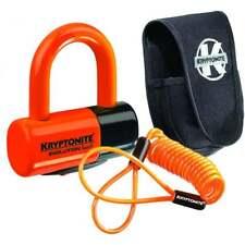Kryptonite Evolution Series 4 Disc Lock - Premium Pack Pouch and Cable - Orange