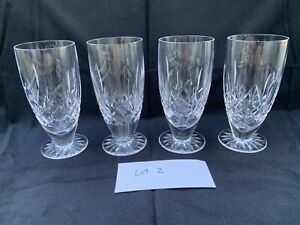 Waterford Crystal Lismore Footed Ice Tea Glasses Set Of 4, Lot 2