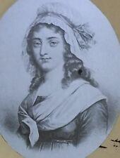 Charlotte Corday, French Revolution Figure, Magic Lantern Glass Slide