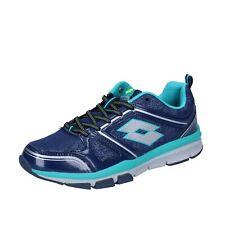 scarpe donna LOTTO 37 EU sneakers blu tessuto BR714-37