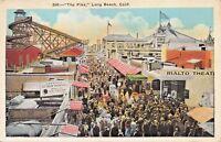LONG BEACH CALIFORNIA~THE PIKE-RIALTO THEATRE-BRICK ICE CREAM POSTCARD 1920s
