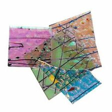 1/4 LB CBS Dichroic Scrap Clear Specialty Glass Assortment COE90 Fusible