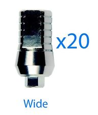 20 x Dental Wide Straight Titanium Abutment for Implant