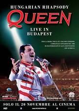 The Queen Hungarian Rhapsody Manifesto Cinema Maxi Formato 100x140cm I°Ed ITA